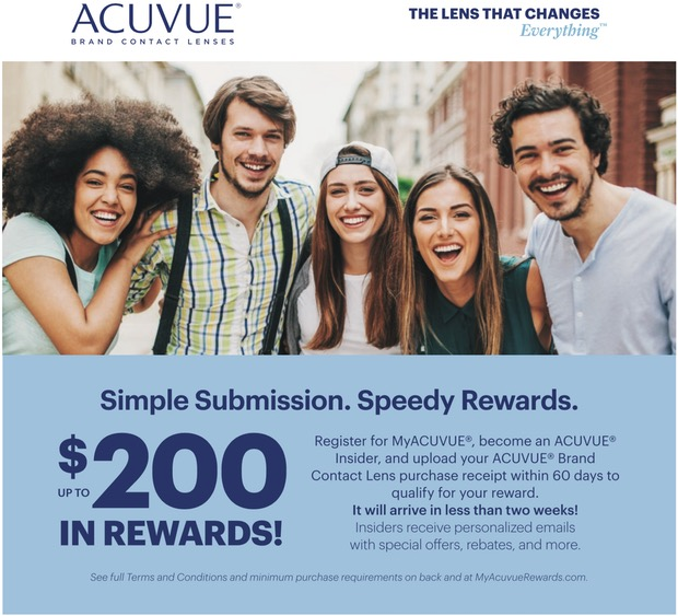 Up To 200 In Rewards When Purchasing Acuvue Contact Lenses